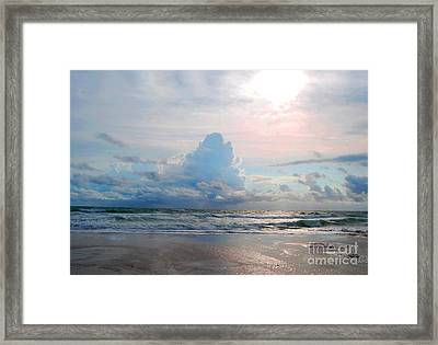 Goodbye Storm Framed Print by Linda Mesibov