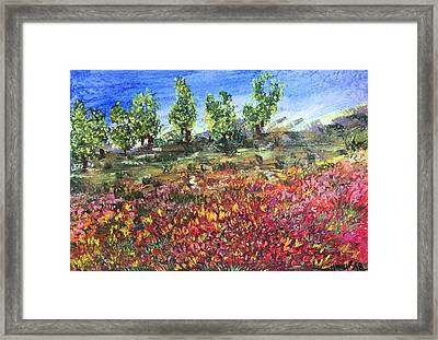 Framed Print featuring the painting Goodbye Winter by Norma Duch