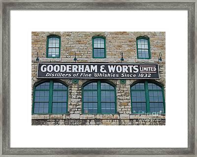 Gooderham And Worts Distillery Framed Print