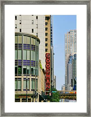 Goodman Memorial Theatre Chicago Framed Print by Christine Till