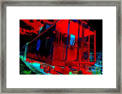 Goodnight Caboose Framed Print by Chuck Taylor