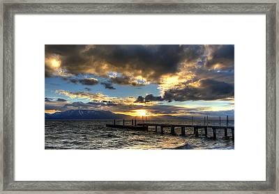 Goodnight Lake Tahoe Framed Print