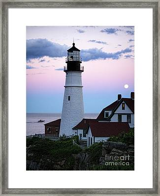 Goodnight Moon, Goodnight Lighthouse  -98588 Framed Print