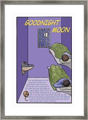 Goodnight Moon Framed Print by Ricardo Levins Morales