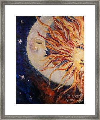 Goodnight Moon Framed Print by Sandra Gallegos