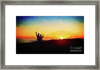 Goodnight Mr. Sun  Framed Print