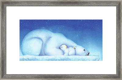 Arctic Bears, Goodnight Nanook Framed Print