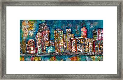 Goodnight Nashville Framed Print