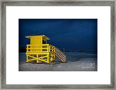 Goodnight Siesta Key Framed Print