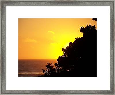 Goodnight Sun Framed Print