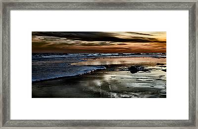 Goodnight Sun Isle Of Palms Framed Print