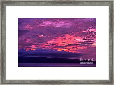 Goodnight World Framed Print