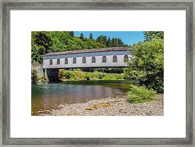 Goodpasture Covered Bridge Framed Print