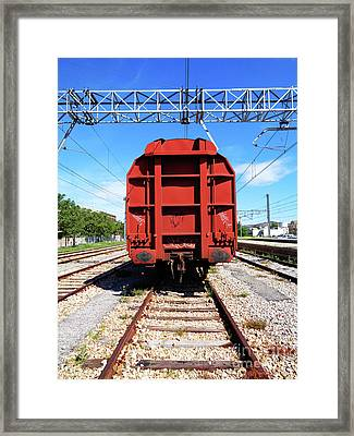 Goods Wagon Framed Print by Don Pedro De Gracia
