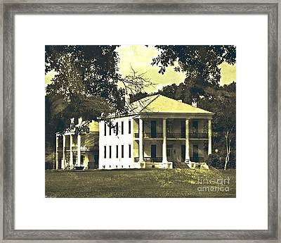 Goodwood Plantation Baton Rouge Circa 1852 Framed Print
