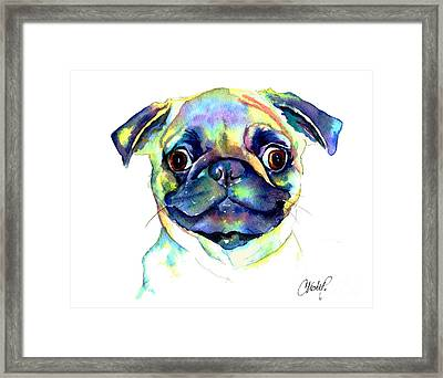 Google Eyed Pug Framed Print