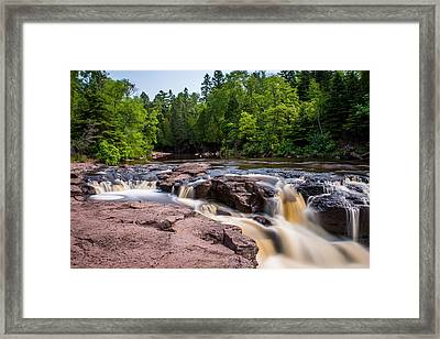 Goose Berry River Rapids Framed Print