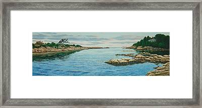 Goose Neck Cove Framed Print by Bruce Dumas