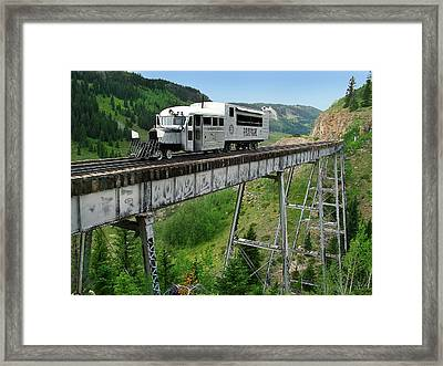 Goose On Cascade Trestle Framed Print by Ken Smith