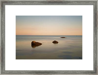 Framed Print featuring the photograph Gooseberry Island II Color by David Gordon