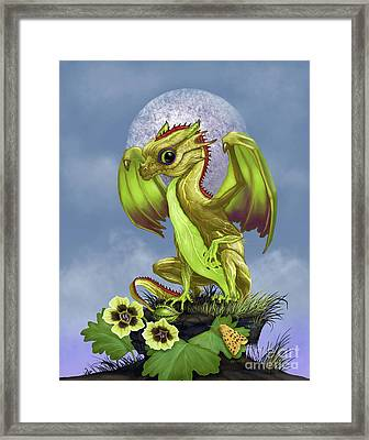 Framed Print featuring the digital art Gooseberry Dragon by Stanley Morrison