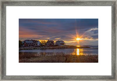 Goosefare Brook Sunrise - Saco Maine Framed Print