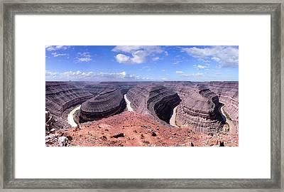Gooseneck Bends Panorama Framed Print