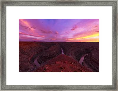 Goosenecks  Framed Print by Dustin  LeFevre