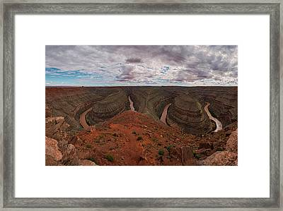 Goosenecks Of The San Juan Framed Print