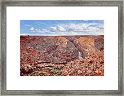 Goosenecks State Park Framed Print by Colin and Linda McKie