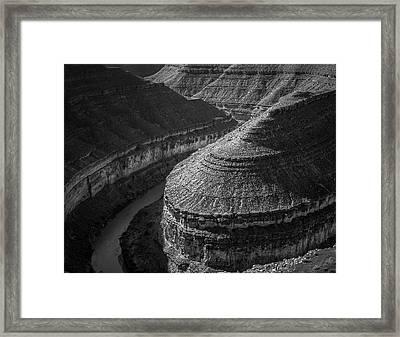 Goosenecks State Park Framed Print