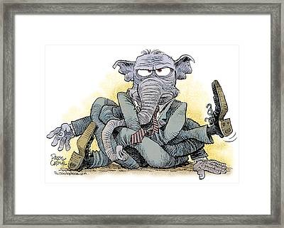 Gop Tied Up In A Knot Framed Print