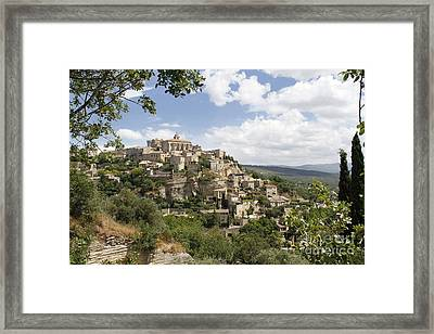 Framed Print featuring the photograph Gordes In Provence by Stan and Anne Foster