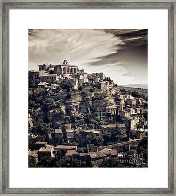 Gordes Framed Print by Sasha Samardzija