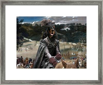 Gordon Setter Art Canvas Print - Philip Iv Hunting Wild Boar  Framed Print