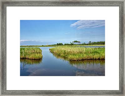 Framed Print featuring the photograph Gordons Pond - Cape Henlopen Park - Delaware by Brendan Reals