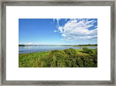 Framed Print featuring the photograph Gordons Pond Overlook - Cape Henlopen State Park - Delaware by Brendan Reals