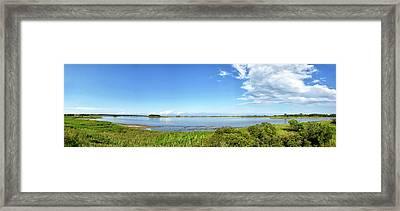 Gordons Pond Panorama - Cape Henlopen State Park - Delaware Framed Print by Brendan Reals