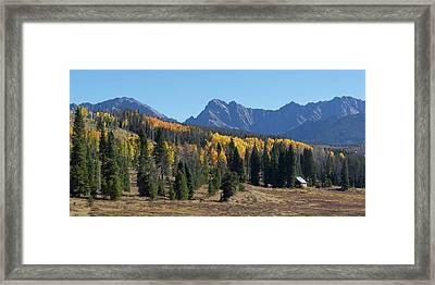 Framed Print featuring the photograph Gore Autumn by Aaron Spong