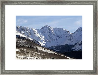 Gore Mountain Range Colorado Framed Print by Brendan Reals