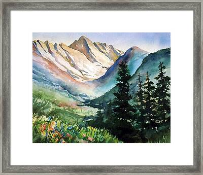 Gore Range Framed Print by Patty  Frierson