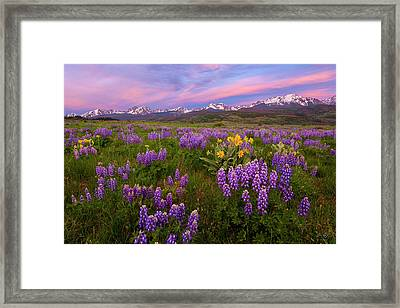 Framed Print featuring the photograph Gore Range Sunrise by Aaron Spong