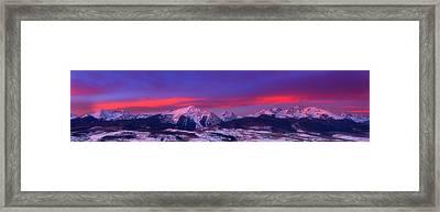 Gore Range Sunrise Framed Print