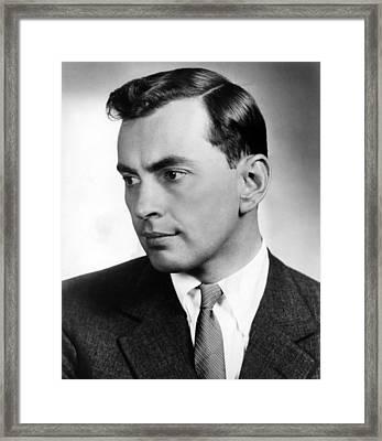Gore Vidal, Author Of The Best Man Framed Print