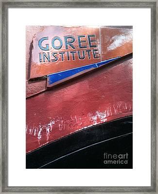 Goree Institute Framed Print by Fania Simon