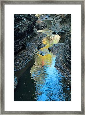 Gorge Abstract Framed Print