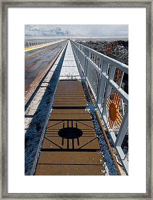 Gorge Bridge Zia Symbol Framed Print