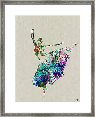 Gorgeous Ballerina Framed Print by Naxart Studio