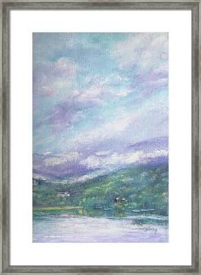Gorgeous Lake Landscape Framed Print