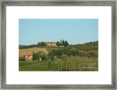 Gorgeous Vineyard In Tuscany Italy Framed Print by DejaVu Designs